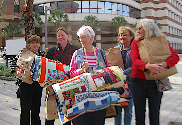 Quilt deliveries